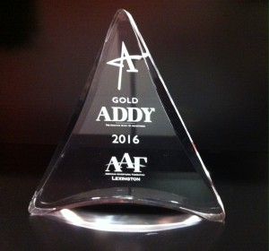 2015 Lexington Ad Club – Gold Addy Award